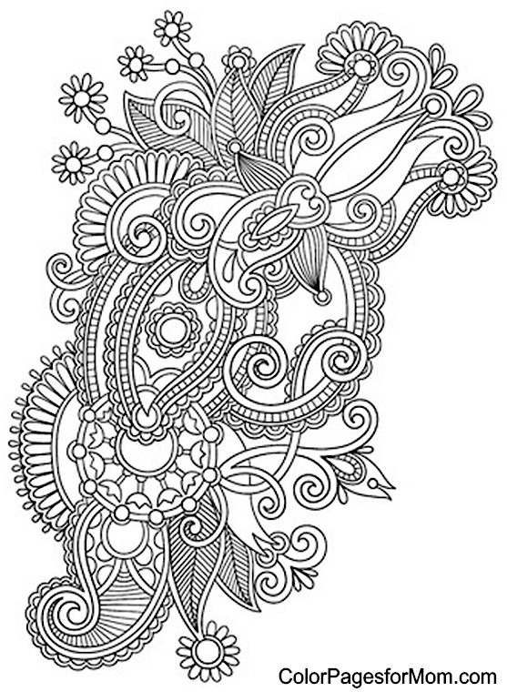 Paisley Printable Coloring Pages  Paisly Free Coloring Pages