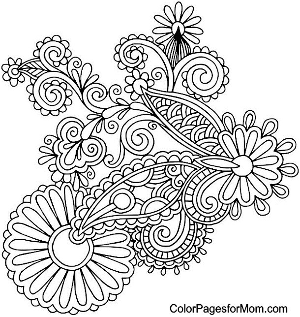 Paisley Printable Coloring Pages  Paisley Coloring Page