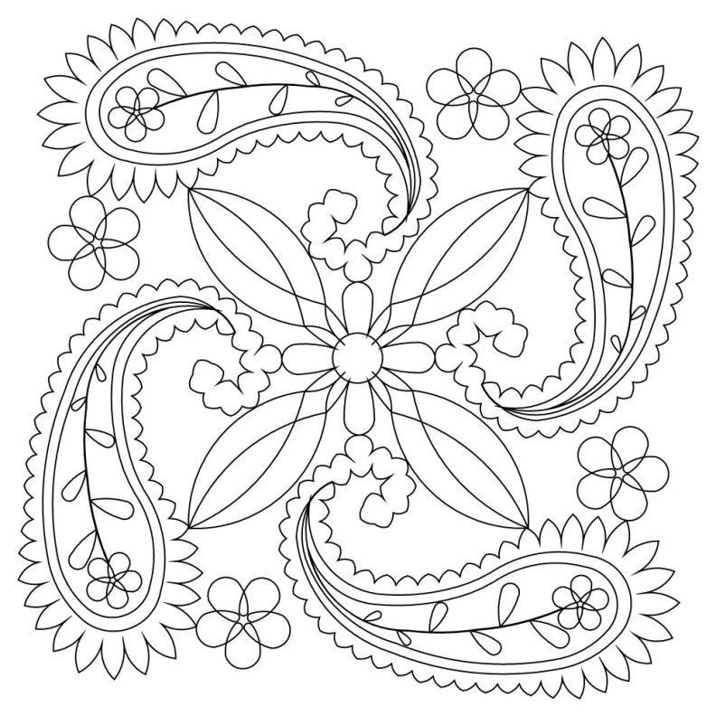 Paisley Printable Coloring Pages  Paisley Coloring Pages Printable Coloring Home