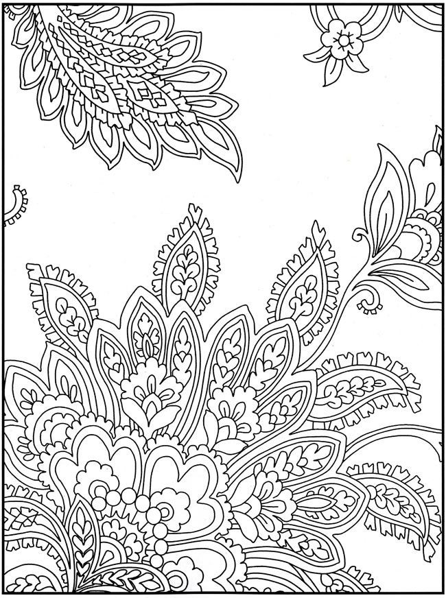 Paisley Printable Coloring Pages  free stained glass designs to color Gianfreda