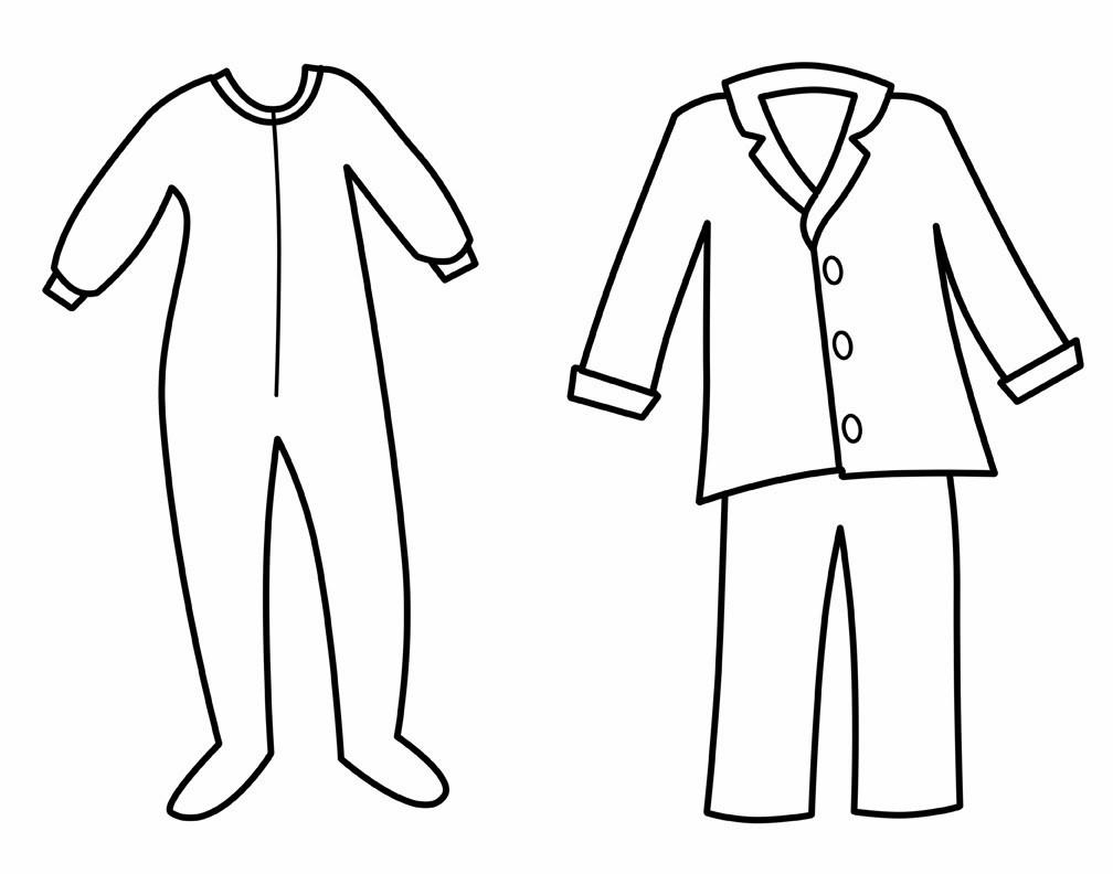 Pajama Coloring Pages  CLAIRE & CREW Pancakes & Pajamas