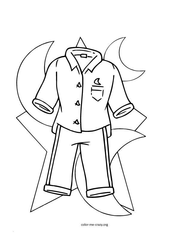 Pajama Coloring Pages  Coloring Pages Kids In Pajamas Coloring Home