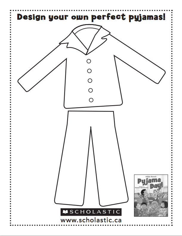 Pajama Coloring Pages  Pajamas Coloring Page Coloring Home