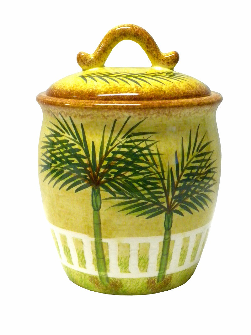 Best ideas about Palm Tree Kitchen Decor . Save or Pin Ceramic PALM tree TROPICAL beach THEME canister kitchen Now.