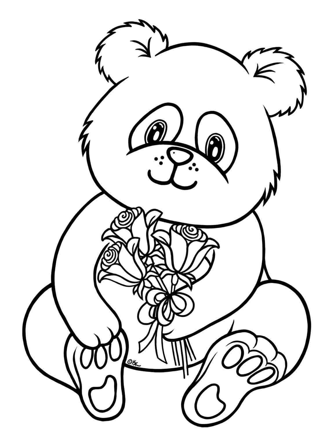 Panda Bear Coloring Pages  baby panda bear coloring pages