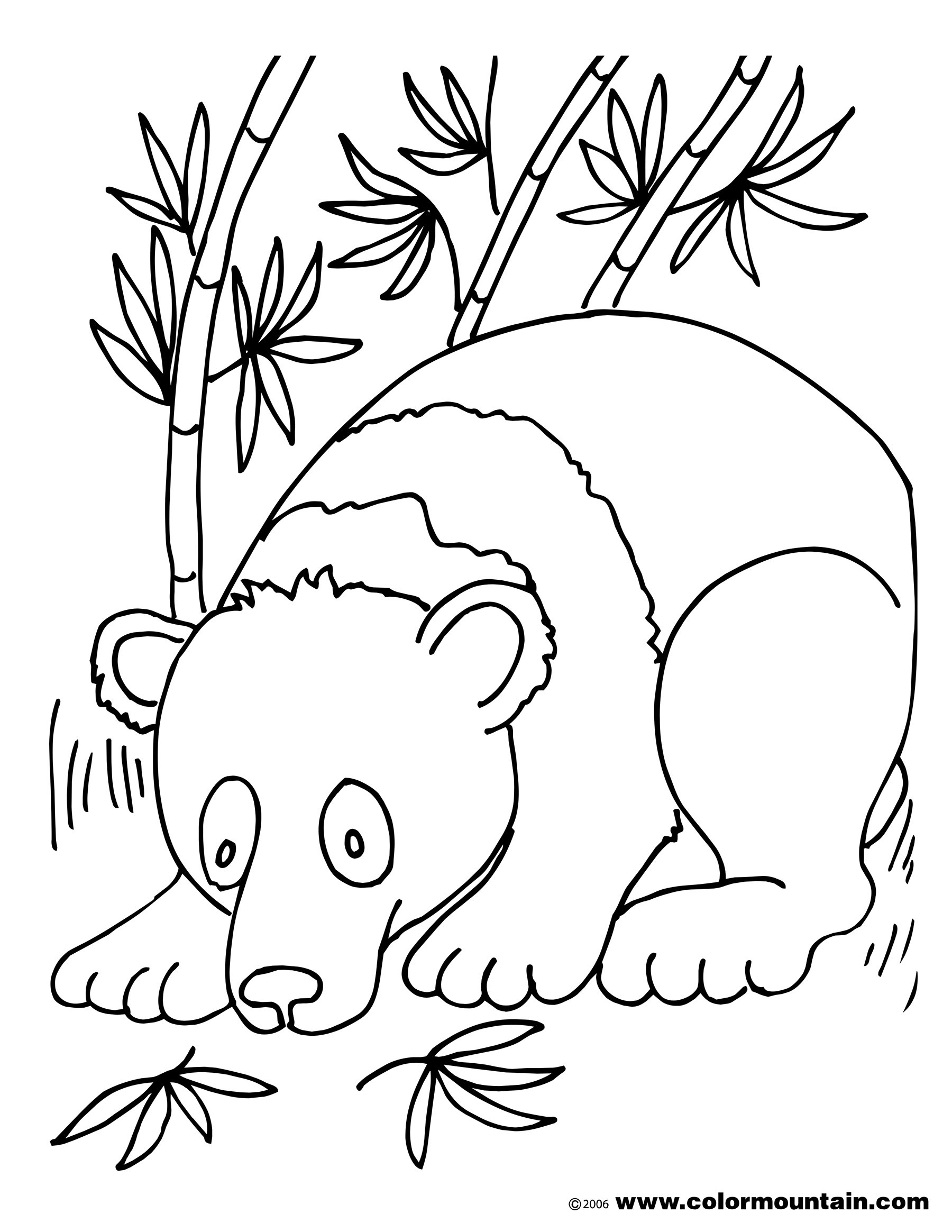 Panda Bear Coloring Pages  Panda Bear Free Coloring Pages