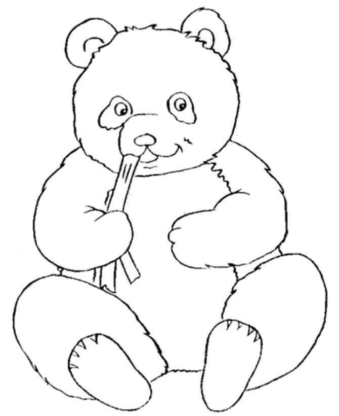 Panda Bear Coloring Pages  Baby Panda Coloring Pages Bestofcoloring