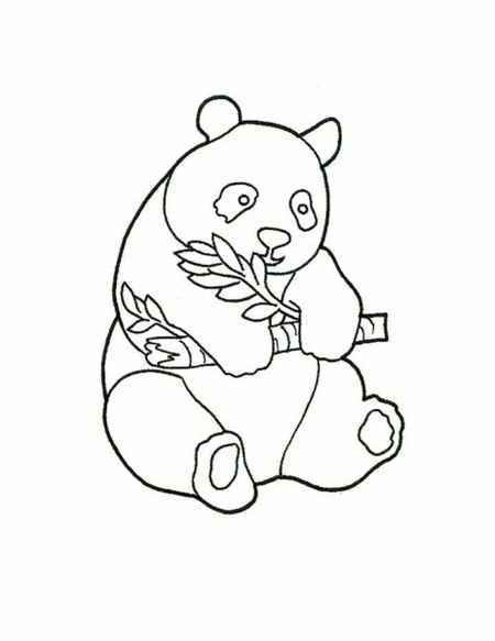 Panda Bear Coloring Pages  simple baby panda coloring page for childrens