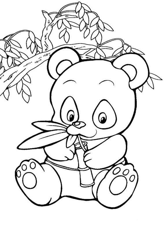 Panda Bear Coloring Pages  Cute Panda Coloring Pages Coloring Home