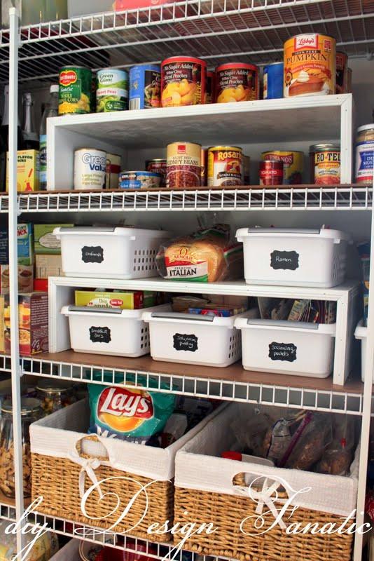 Pantry Organizers DIY  organized pantry