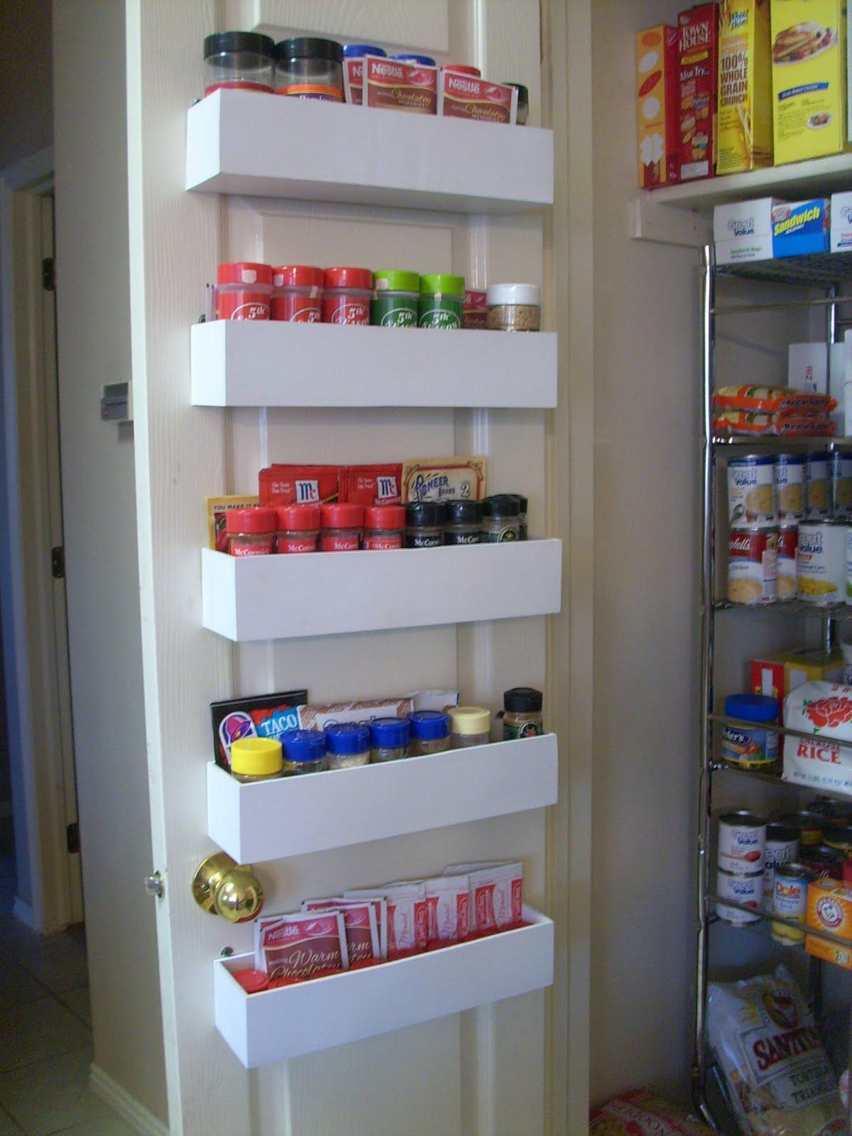 Pantry Organizers DIY  RobbyGurl s Creations DIY Pantry Door Spice Racks