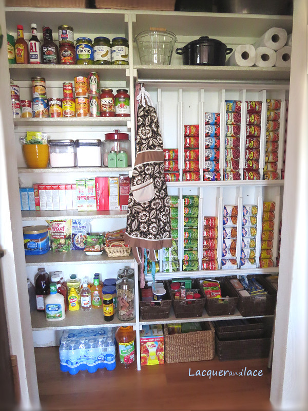 Pantry Organizers DIY  Lacquerandlace Rotating Canned Food System DIY