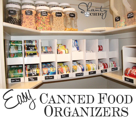 Pantry Organizers DIY  Pantry Ideas DIY Canned Food Storage Shanty 2 Chic