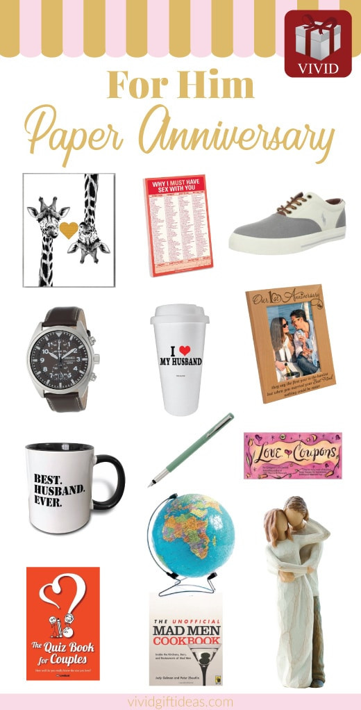 Best ideas about Paper Anniversary Gift Ideas For Him . Save or Pin 25 Paper Anniversary Gift Ideas for Him Vivid s Gift Ideas Now.