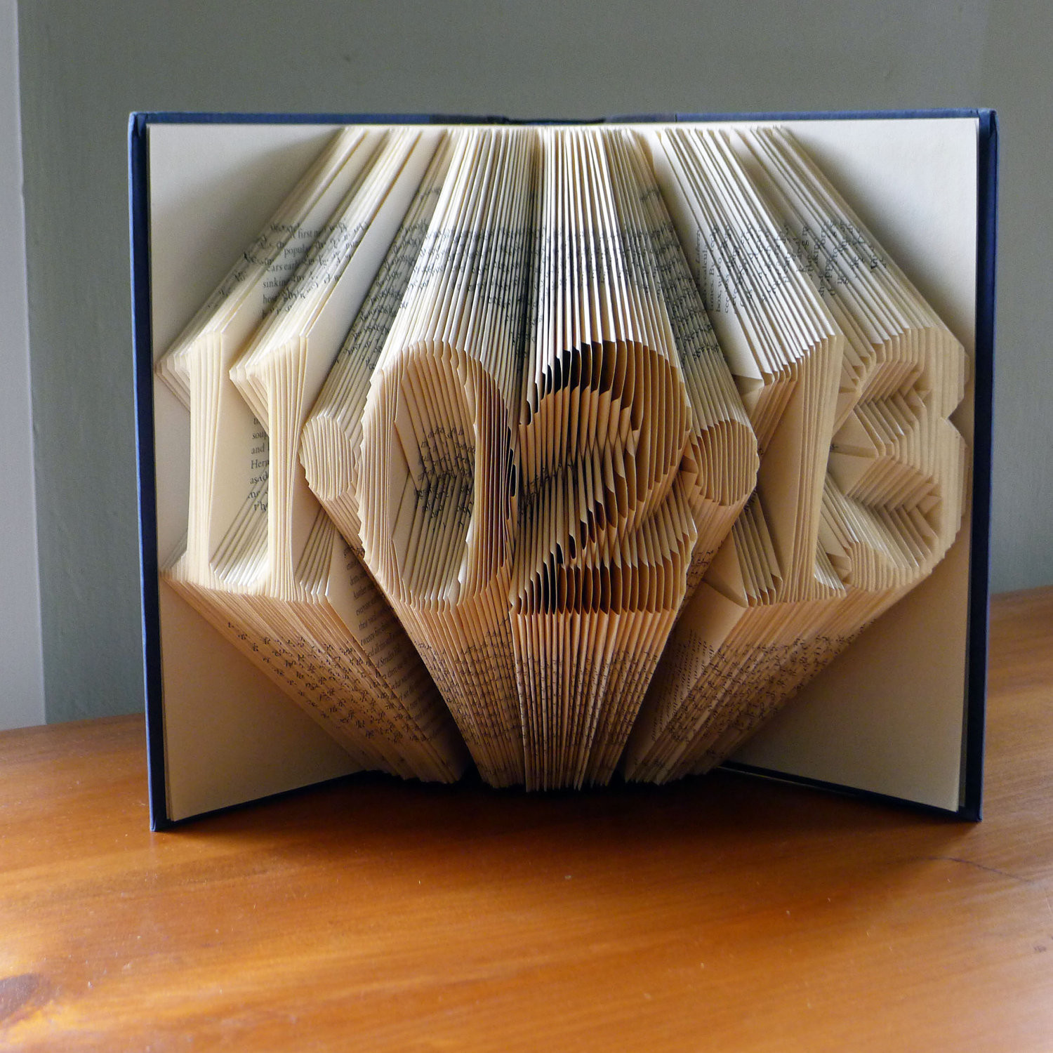 Best ideas about Paper Anniversary Gift Ideas For Him . Save or Pin Folded Book Art Paper Anniversary Gift for Him by Now.