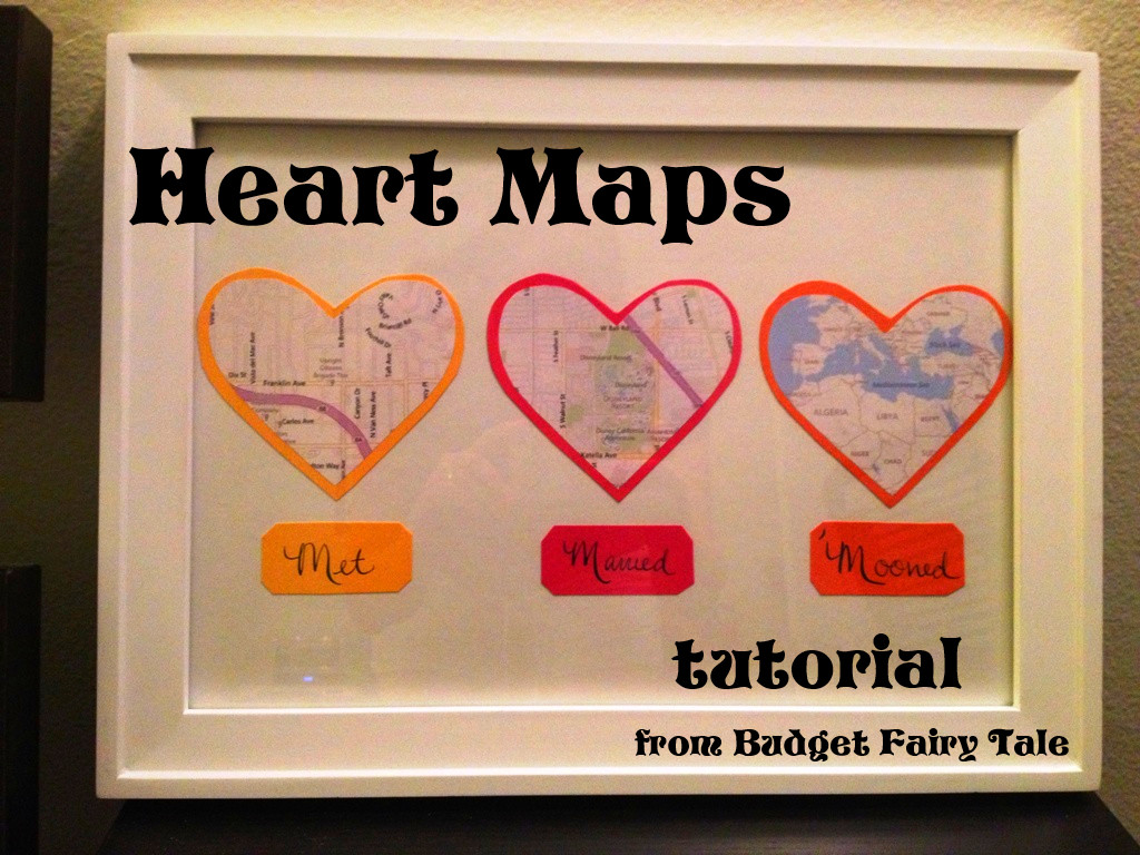 Best ideas about Paper Anniversary Gift Ideas For Him . Save or Pin First Anniversary Gift Map Hearts Display Tutorial and Now.
