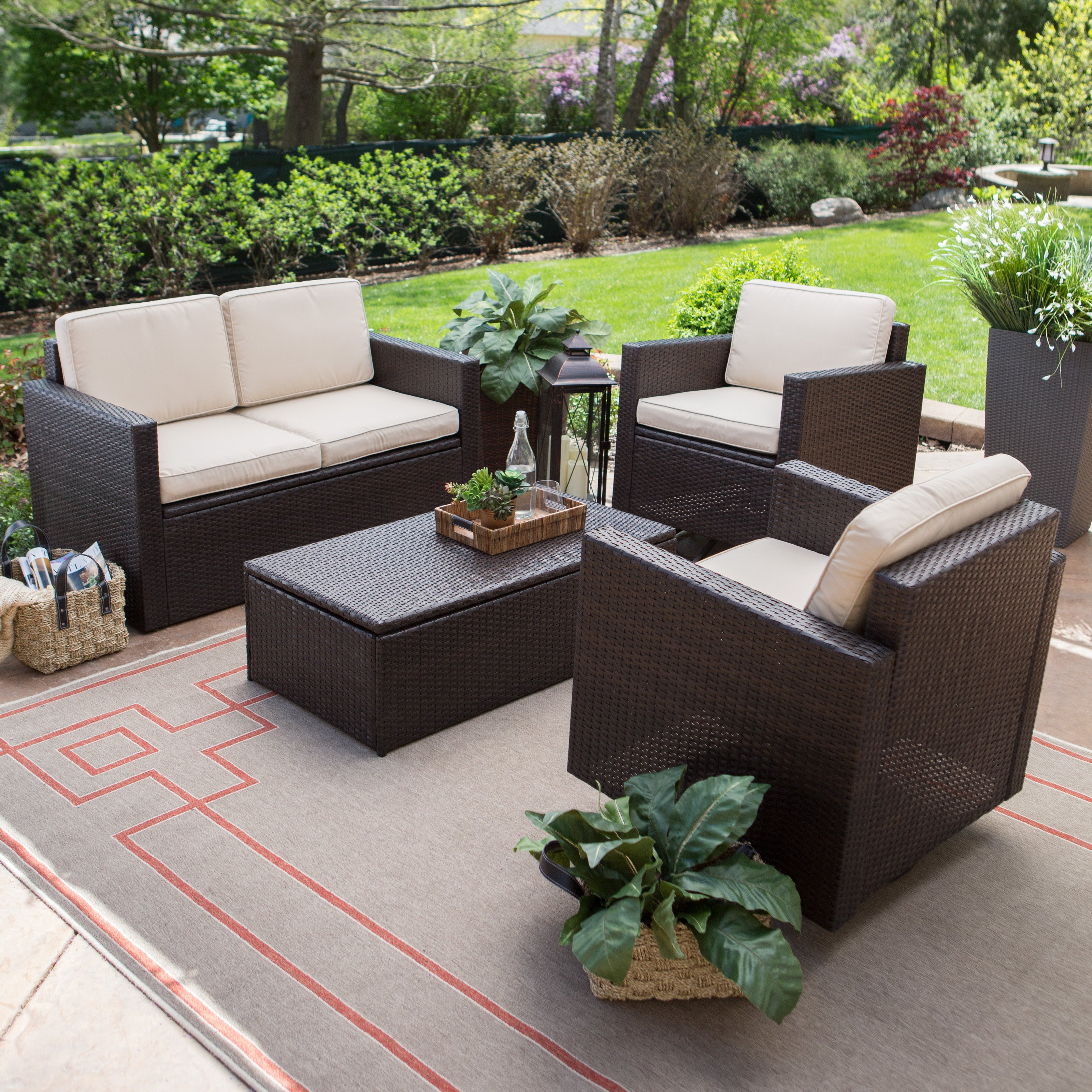 Best ideas about Patio Furniture Set . Save or Pin Coral Coast Berea Wicker 4 Piece Conversation Set with Now.