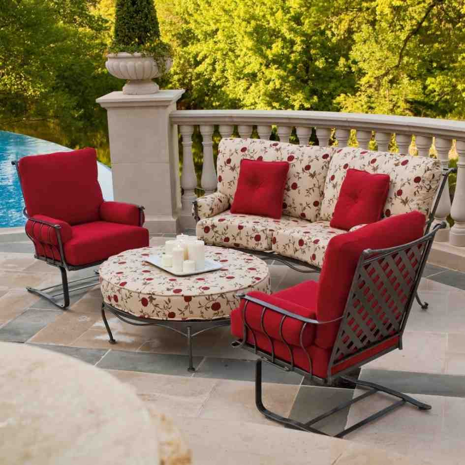 Best ideas about Patio Furniture Set . Save or Pin Red Patio Chair Cushions Home Furniture Design Now.