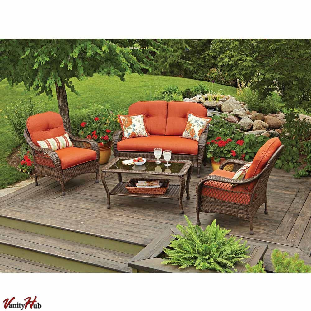Best ideas about Patio Furniture Set . Save or Pin 4 Pc Patio Deck Outdoor Resin Wicker Chair Sofa Sectional Now.