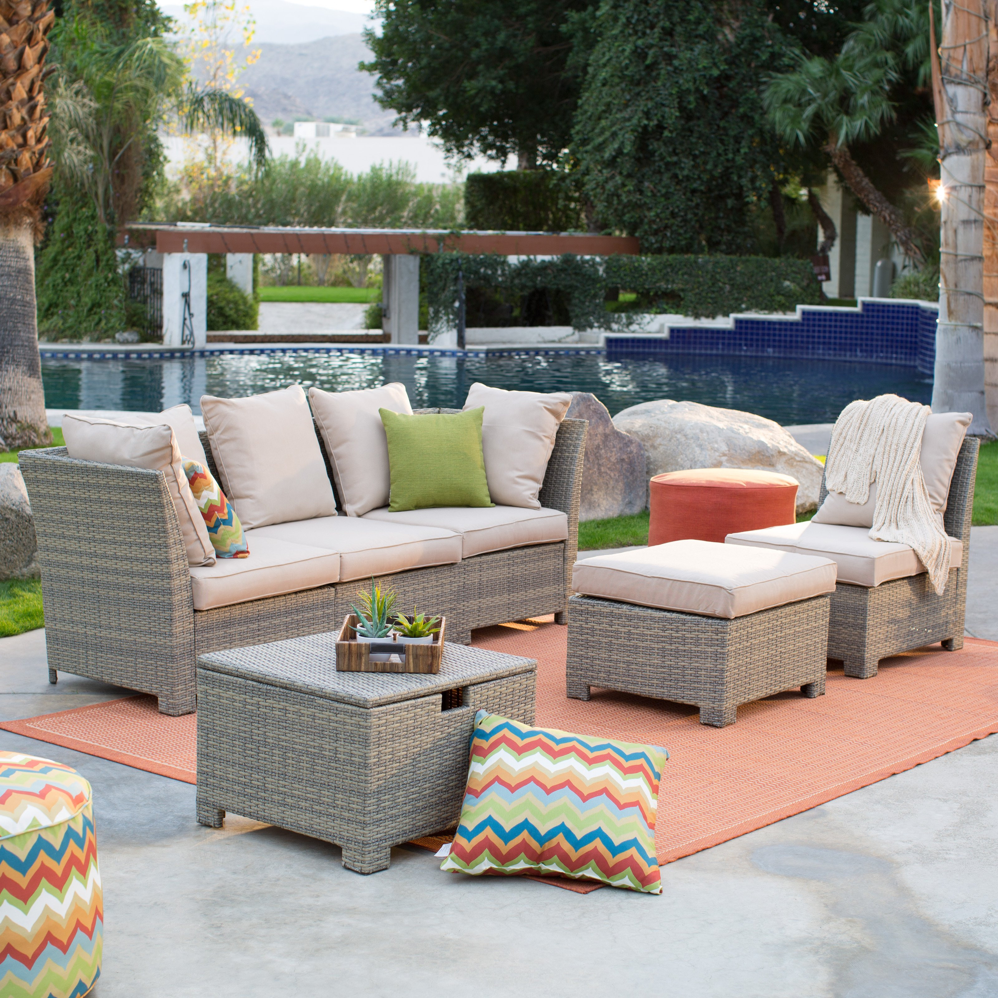 Best ideas about Patio Furniture Set . Save or Pin Coral Coast South Isle All Weather Wicker Natural Outdoor Now.