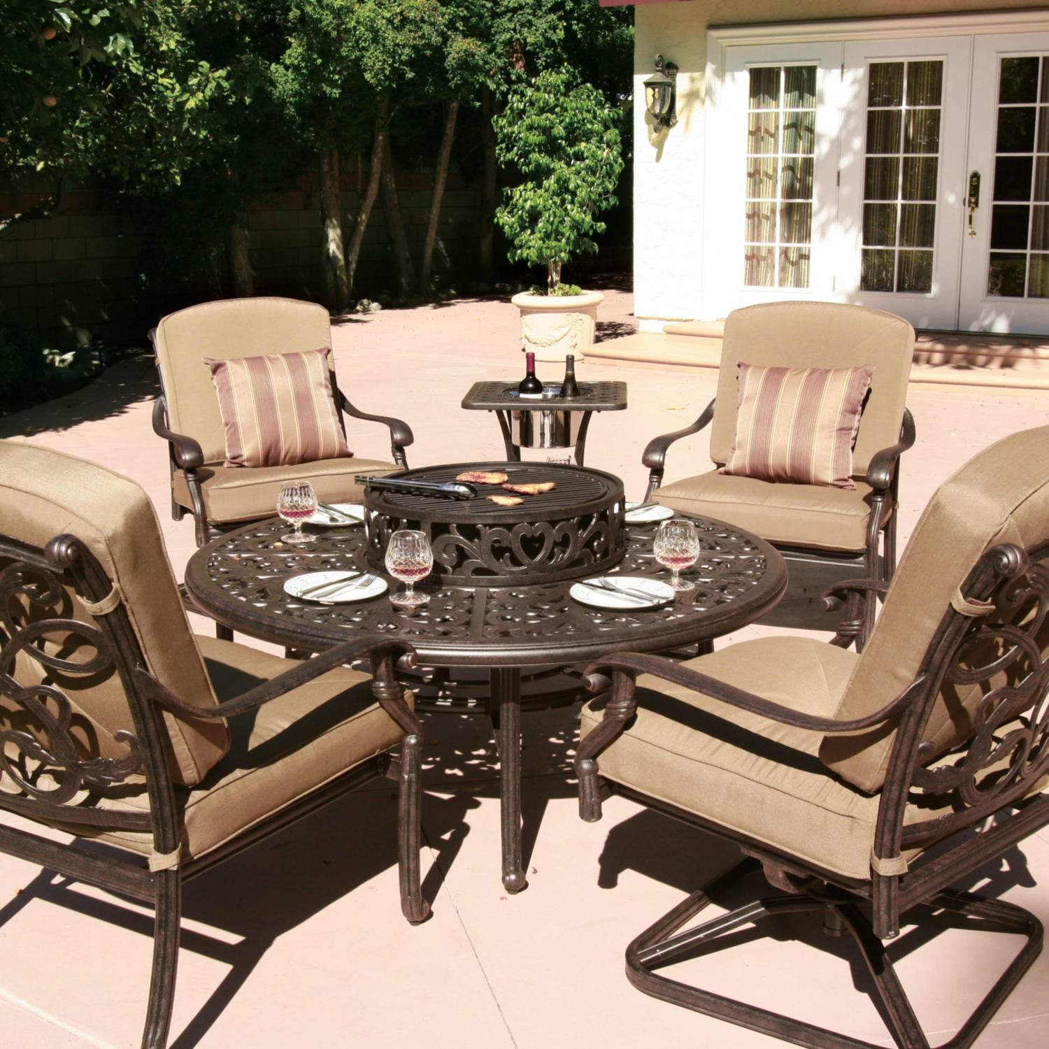 Best ideas about Patio Furniture Set . Save or Pin patio furniture sets with fire pit Now.