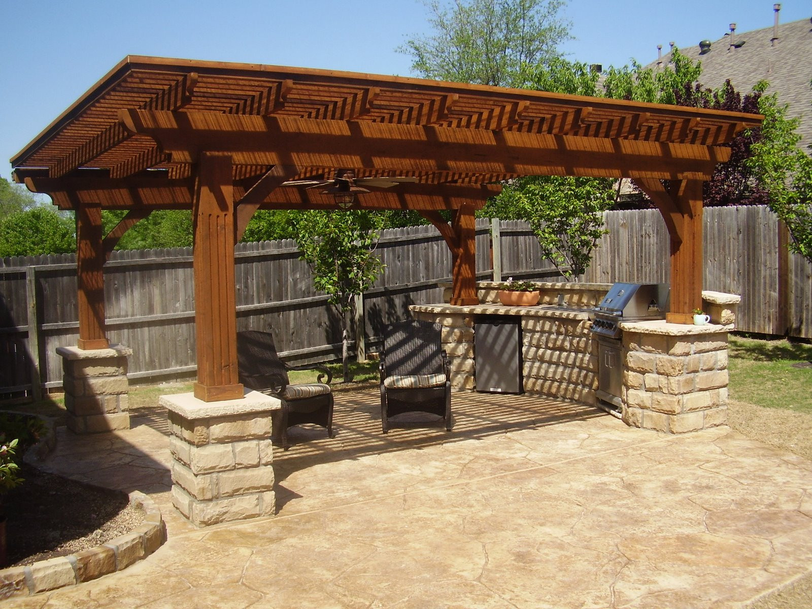 Best ideas about Patio Kitchen Ideas . Save or Pin Brainstorming the Outdoor Kitchen Roof Ideas for a Unique Now.