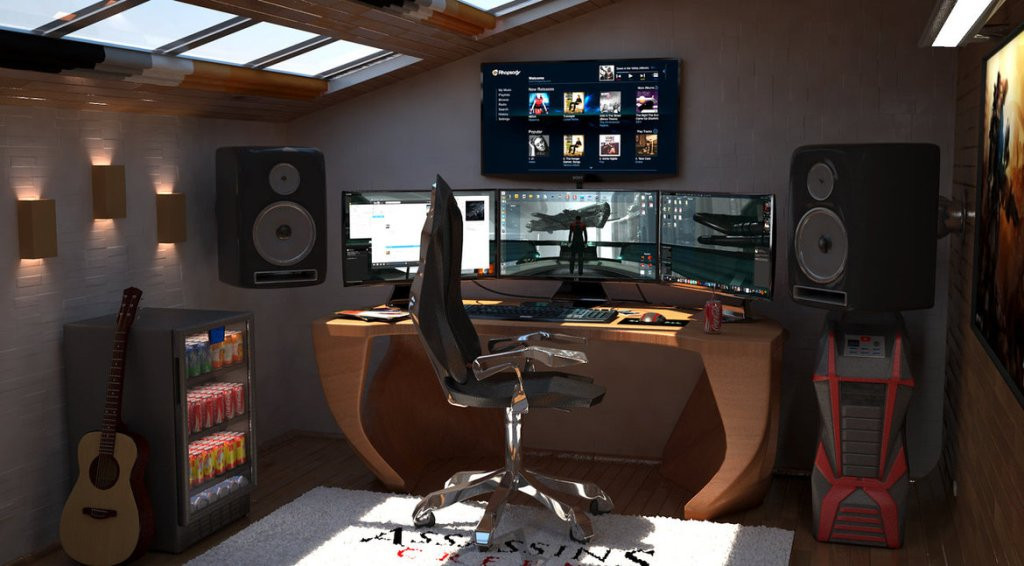 Best ideas about Pc Game Room . Save or Pin 50 Best Setup of Video Game Room Ideas [A Gamer s Guide] Now.
