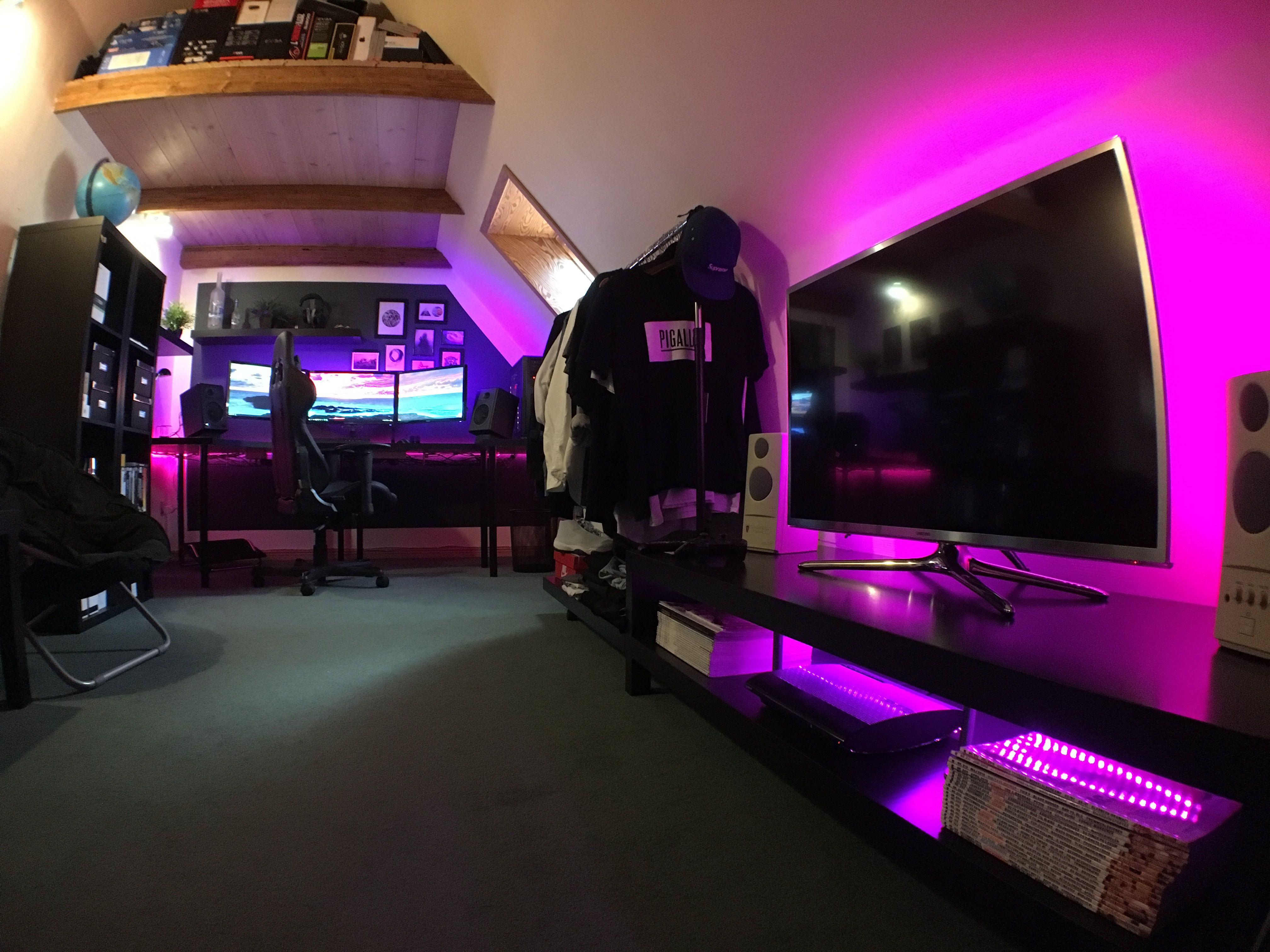 Best ideas about Pc Game Room . Save or Pin Full Battlestation Room Tour What do you think Now.