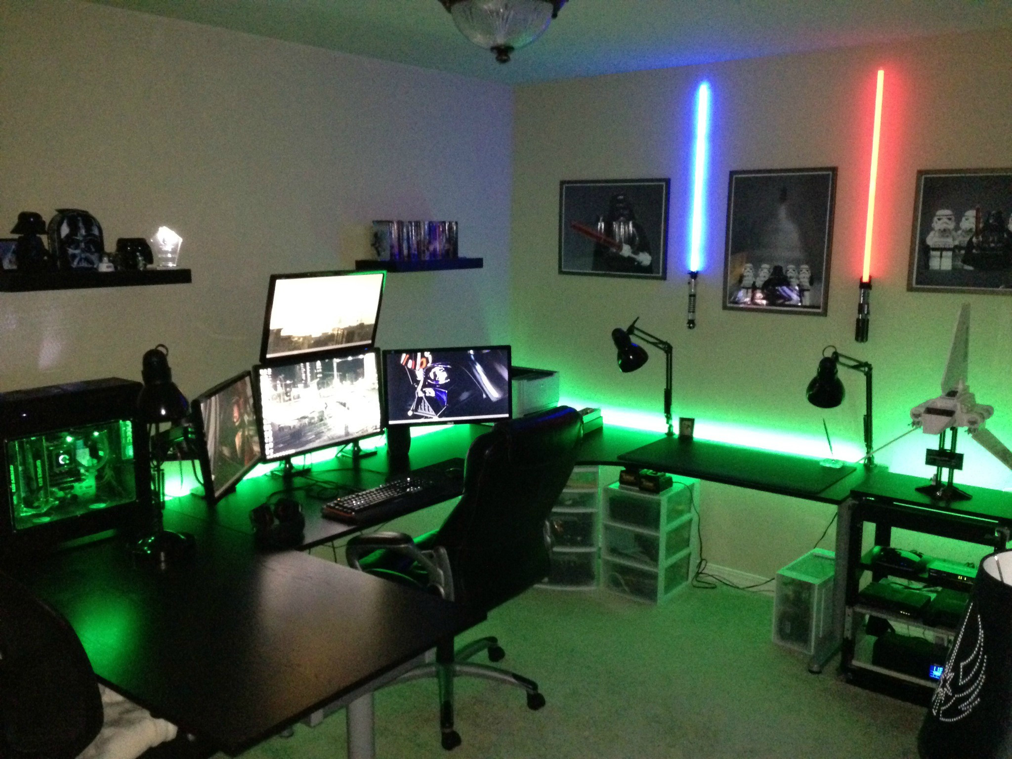 Best ideas about Pc Game Room . Save or Pin Cool puter Setups and Gaming Setups Now.