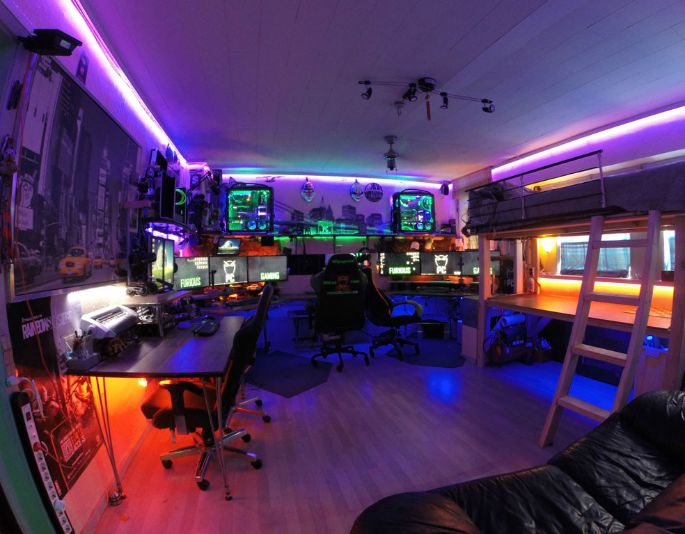 Best ideas about Pc Game Room . Save or Pin 9 Amazing PC gaming battle stations Now.