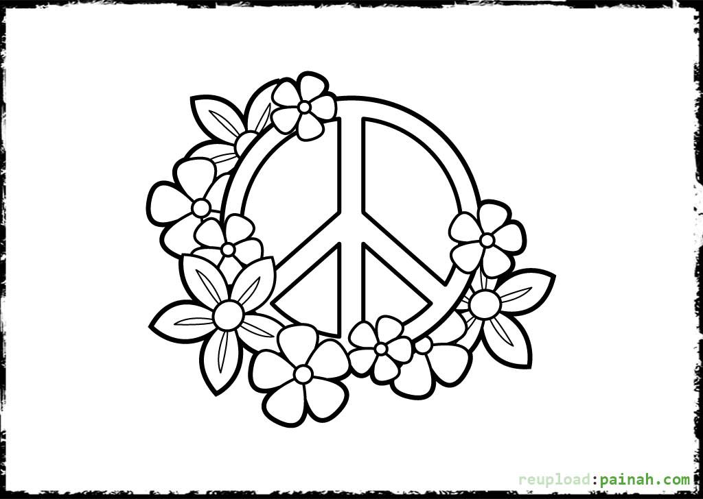 Peace Coloring Pages For Kids  Peace Sign Coloring Pages Printable for Kids