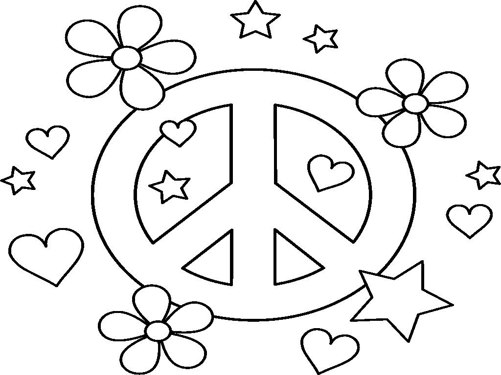 Peace Coloring Pages For Kids  Peace Signs