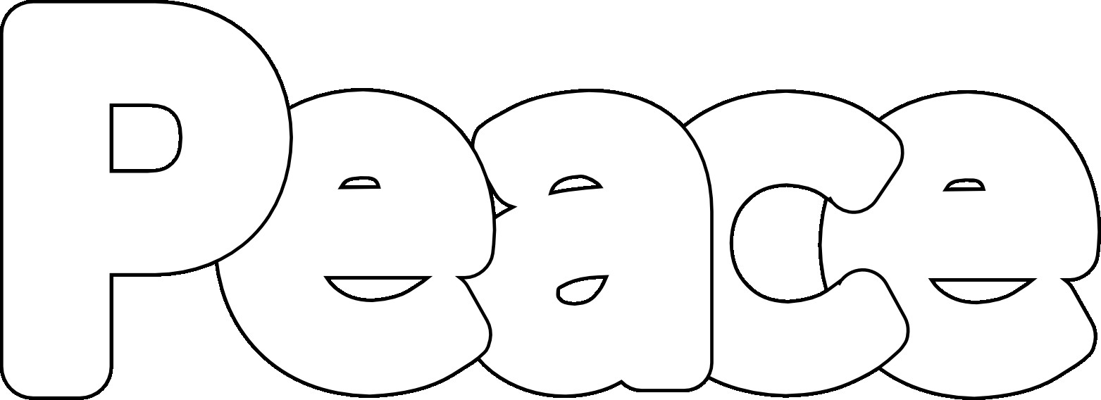 Peace Coloring Pages For Kids  Peace Sign Coloring Pages coloringsuite