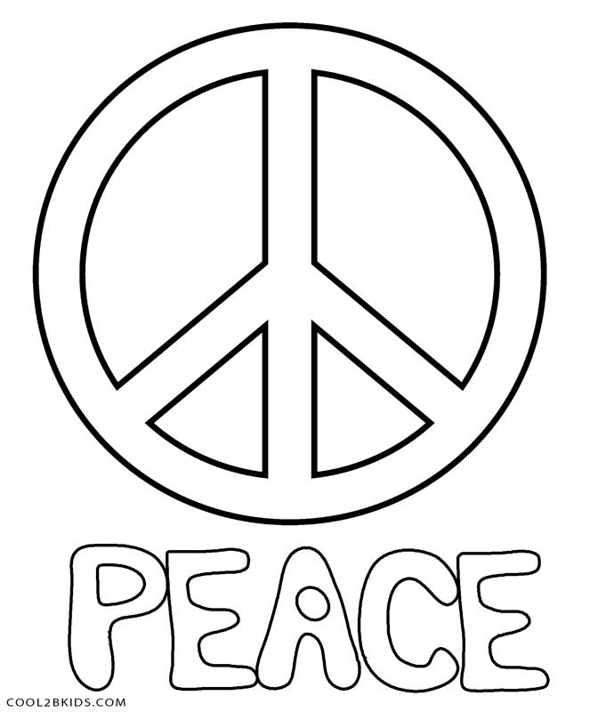 Peace Coloring Pages For Kids  coloring pages of peace signs