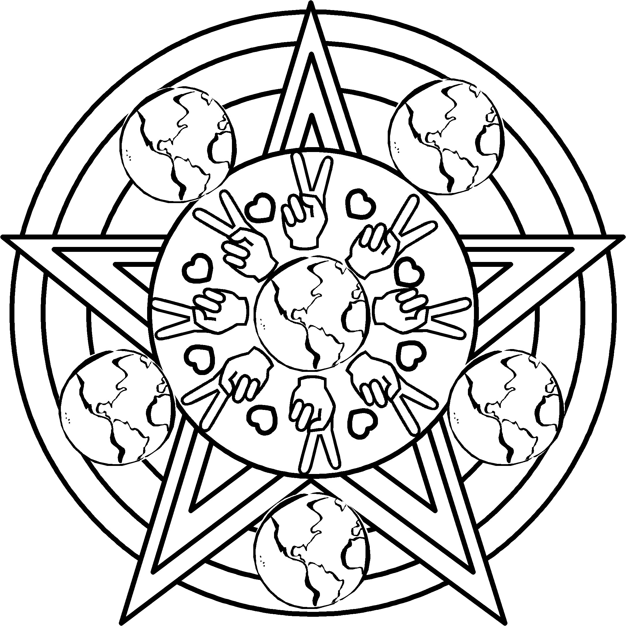 Peace Coloring Pages For Kids  Peace Coloring Pages 7