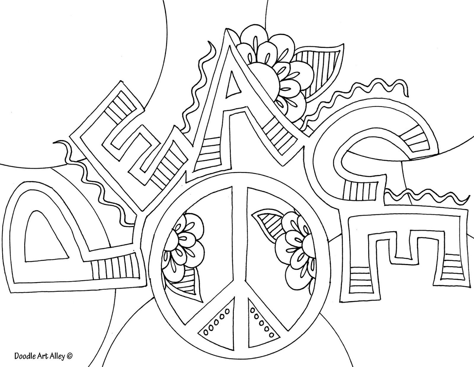Peace Coloring Pages For Kids  World Peace Day Coloring Pages