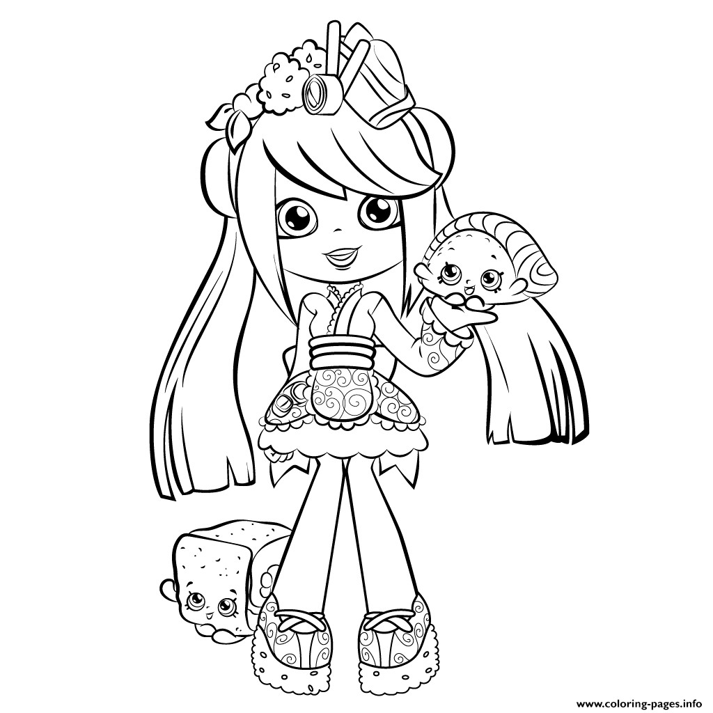 People Coloring Pages For Girls  Cute Coloring Pages For Girls 7 To 8 Shopkins Coloring