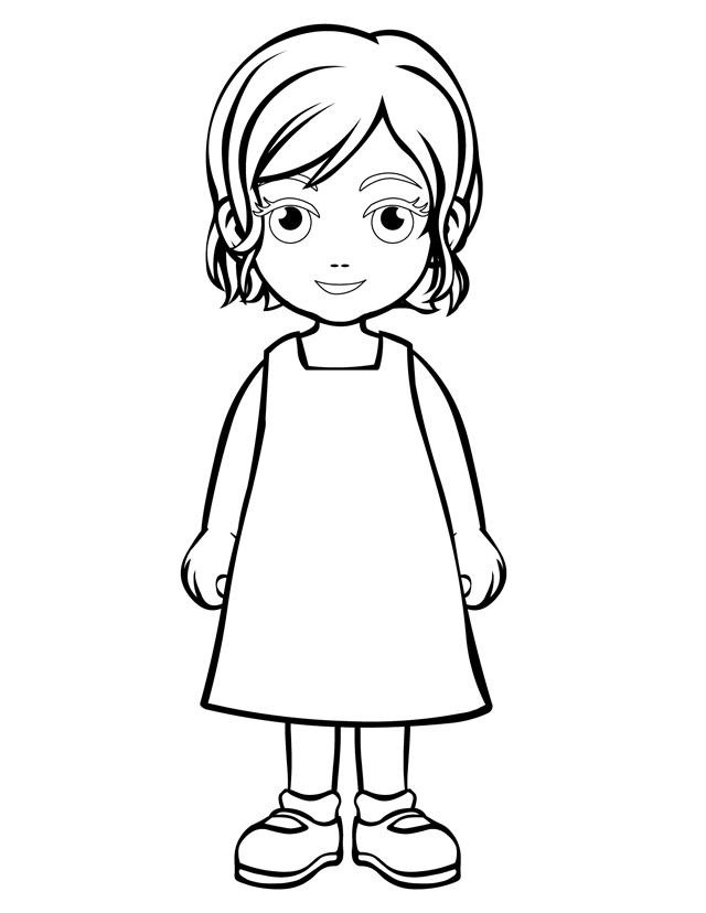 People Coloring Pages For Girls  People and places coloring pages Mom and girl reading