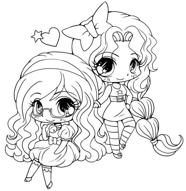People Coloring Pages For Girls  Cute Chibi Coloring Pages Free Coloring Pages For Kids