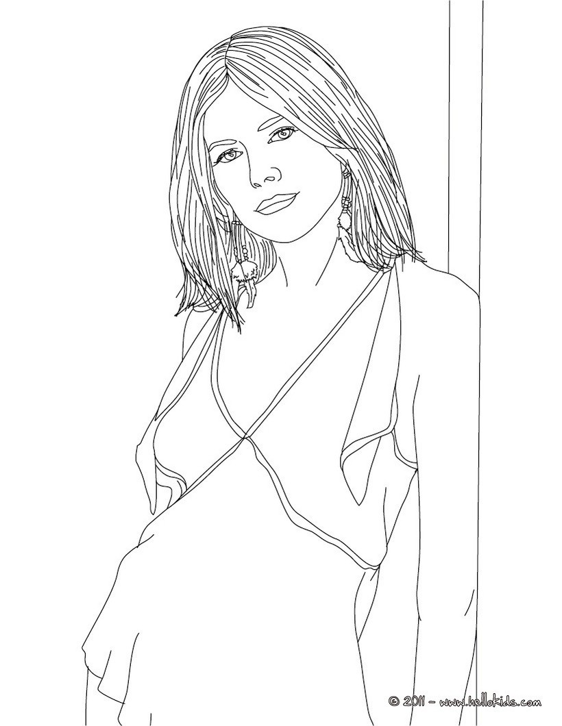 People Coloring Pages  Sienna miller coloring pages Hellokids