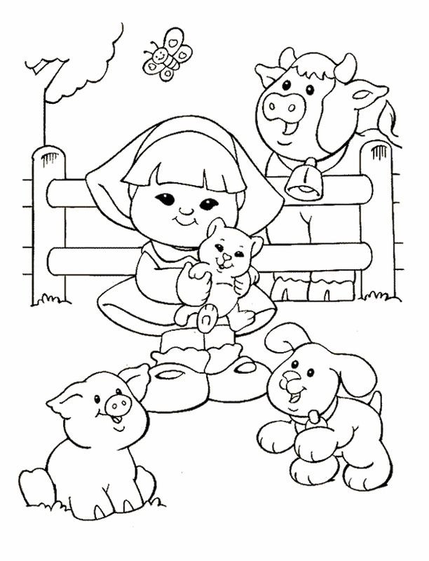 People Coloring Pages  Little People Coloring Pages 16