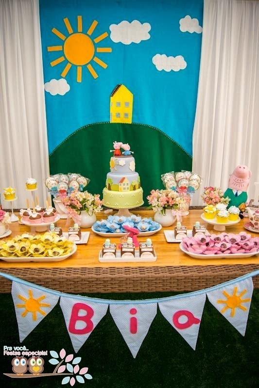 Best ideas about Peppa Pig Birthday Decorations . Save or Pin Peppa Pig Third Birthday Party – Little Wish Parties Now.
