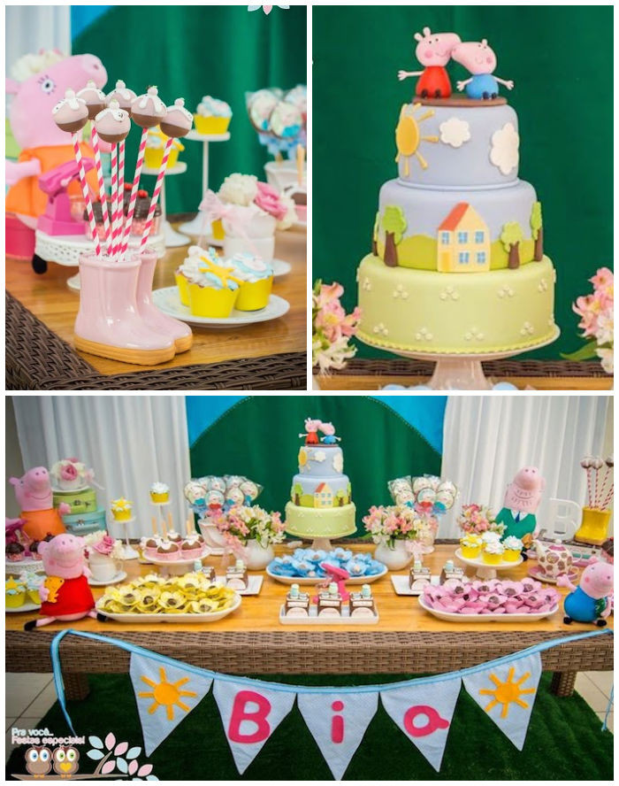 Best ideas about Peppa Pig Birthday Decorations . Save or Pin Kara s Party Ideas Peppa Pig Themed Birthday Party Now.