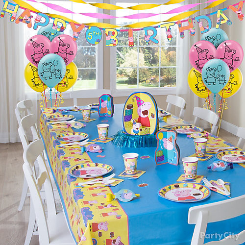 Best ideas about Peppa Pig Birthday Decorations . Save or Pin Peppa Pig Party Table Idea Party City Now.