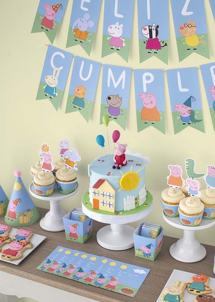 Best ideas about Peppa Pig Birthday Decorations . Save or Pin Kara s Party Ideas Peppa & George Pig Birthday Party via Now.