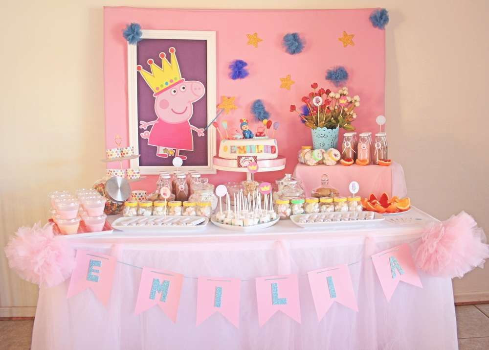 Best ideas about Peppa Pig Birthday Party Decorations . Save or Pin PEPPA PIG EMILIA Birthday Party Ideas Now.
