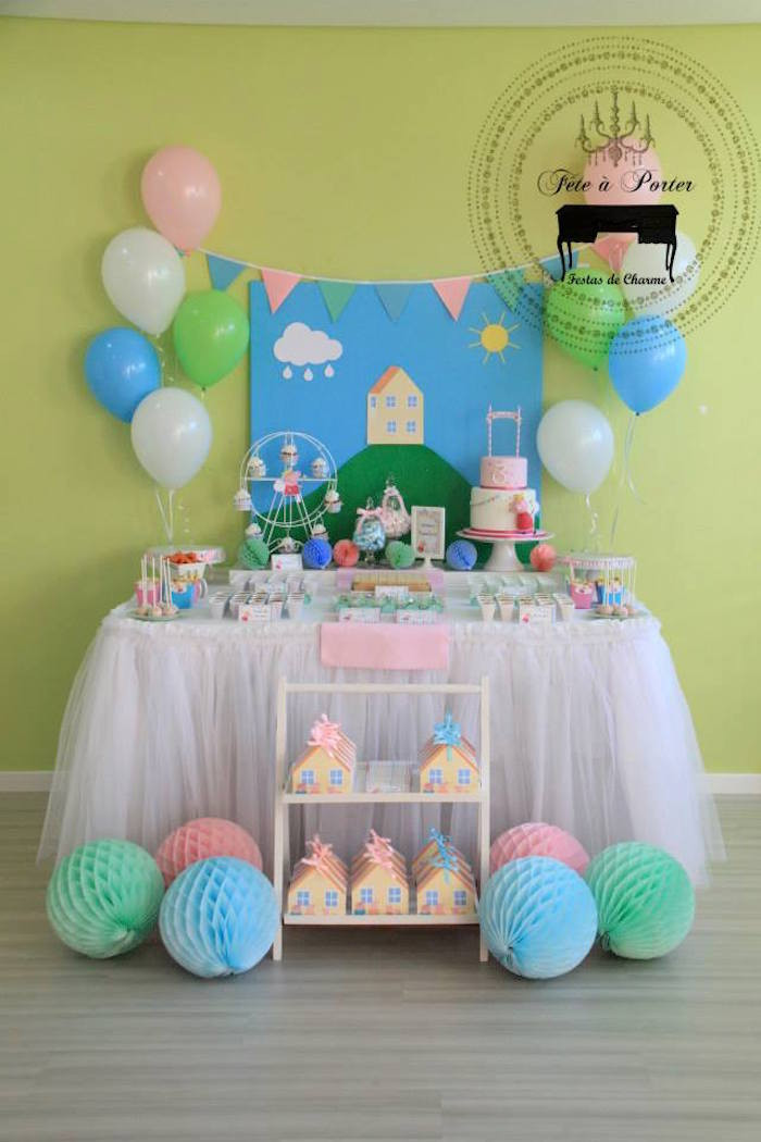 Best ideas about Peppa Pig Birthday Party Decorations . Save or Pin Kara s Party Ideas Peppa Pig Themed Birthday Party Now.