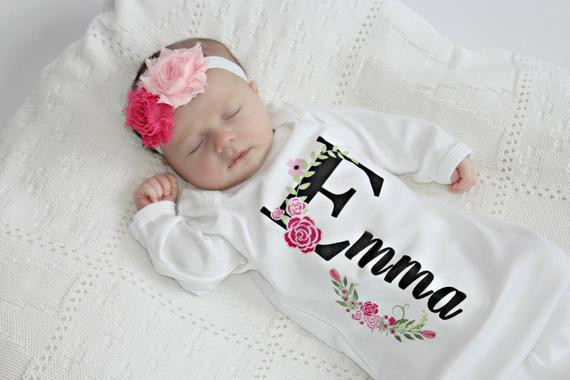 Personalized Baby Gift Ideas  Personalized Baby Gift Girl Newborn Girl ing Home Outfit