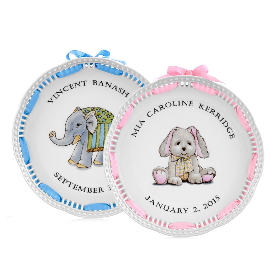 Personalized Baby Gift Ideas  Openwork Personalized Baby Plate