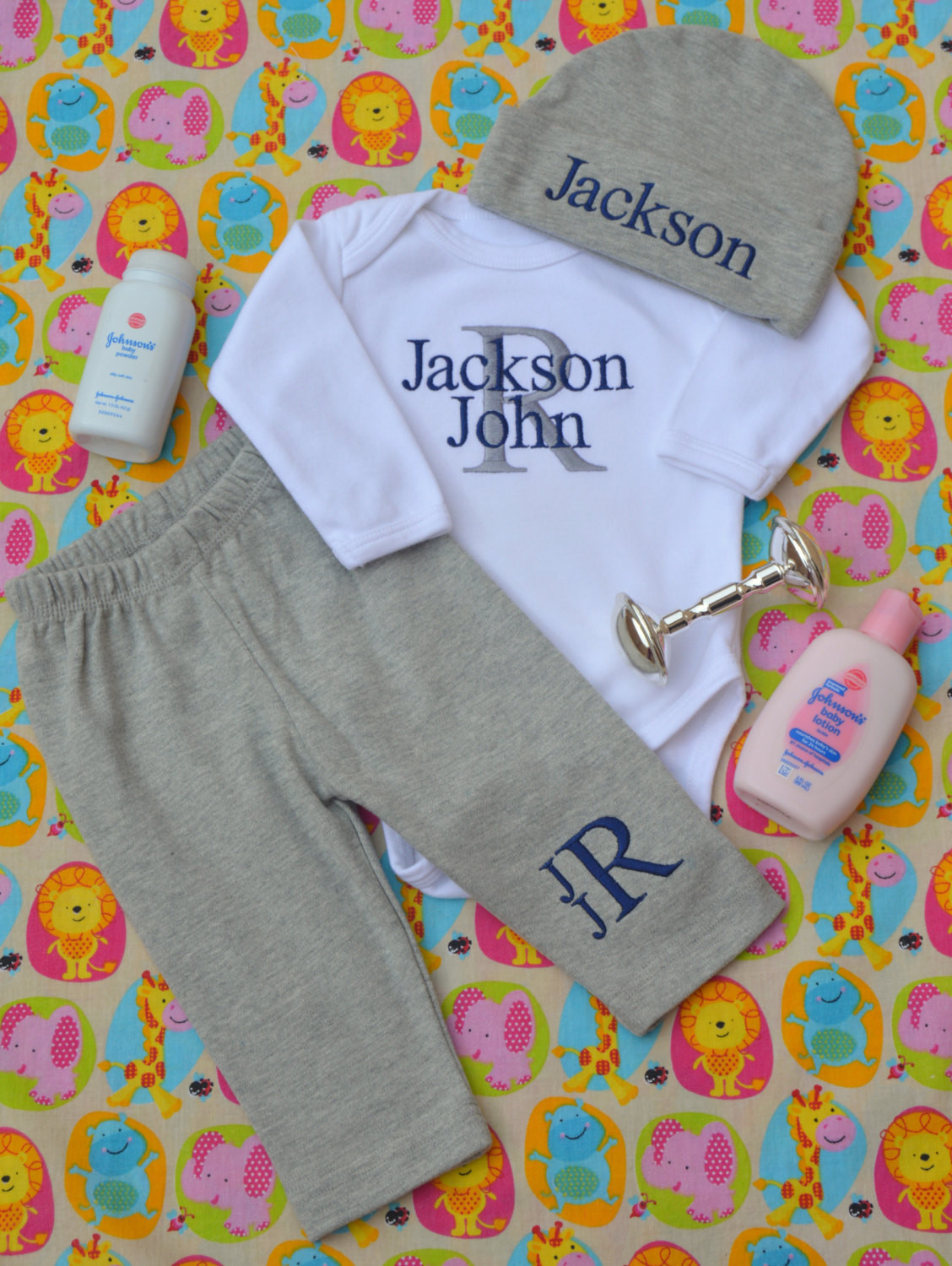 Personalized Baby Gift Ideas  Baby Boy ing Home Outfit Baby Boy Clothes Baby Boy Gift